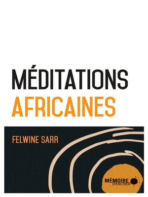 cover image of Méditations africaines