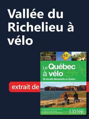 cover image of Vallée du Richelieu à vélo