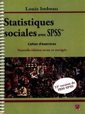 cover image of Statistiques sociales avec IBM SPSSMD