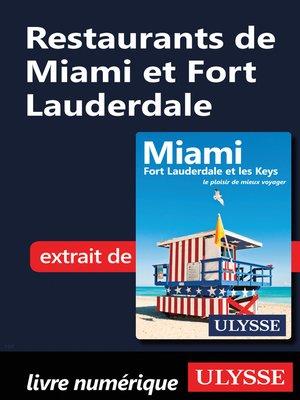 cover image of Restaurants de Miami et Fort Lauderdale
