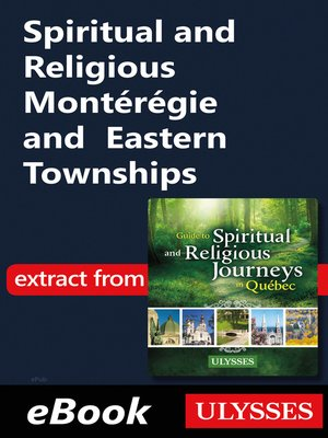 cover image of Spiritual and Religious Montérégie and Eastern Townships