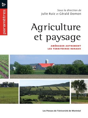 cover image of Agriculture et paysage