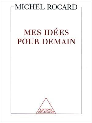 cover image of Mes idées pour demain