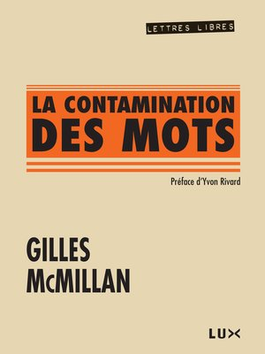 cover image of La contamination des mots