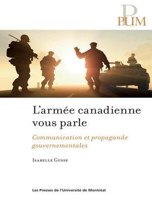 cover image of L'armée canadienne vous parle
