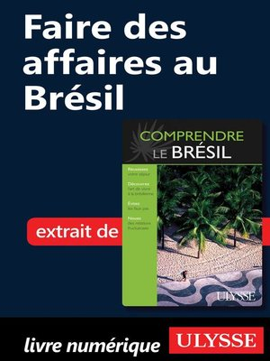 cover image of Faire des affaires au Brésil