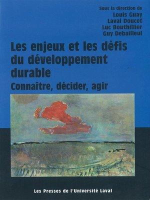 cover image of Les enjeux et défis du développement durable