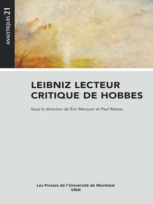 cover image of Leibniz lecteur critique de Hobbes