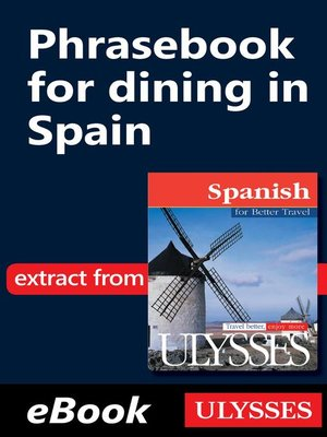 cover image of Phrasebook for dining in Spain