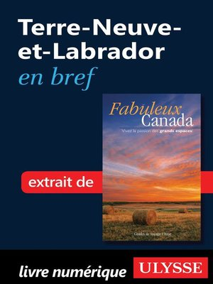cover image of Terre-Neuve-et-Labrador en bref