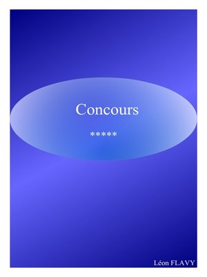 cover image of CONCOURS COMMISSAIRE