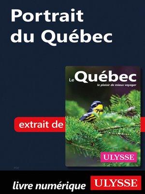 cover image of Portrait du Québec