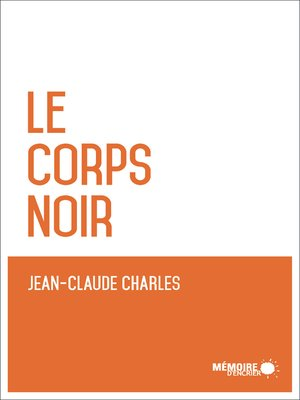cover image of Le corps noir