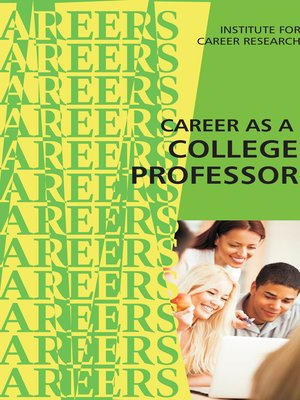 cover image of Career as a College Professor