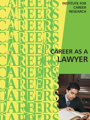 cover image of Career as a Lawyer