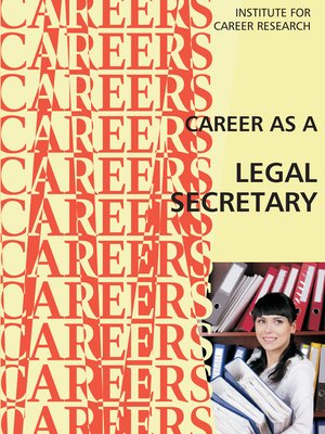 cover image of Career as a Legal Secretary/Medical Secretary