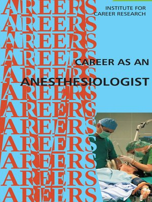 cover image of Career as an Anesthesiologist