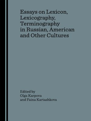 essay on lexicography He is the author and co-author of more than one hundred publications on lexicography, theoretical papers, printed and electronic (online) dictionaries influence and .