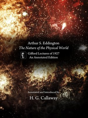 cover image of Arthur S. Eddington, The Nature of the Physical World