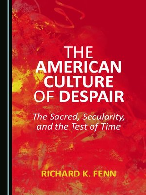 cover image of The American Culture of Despair
