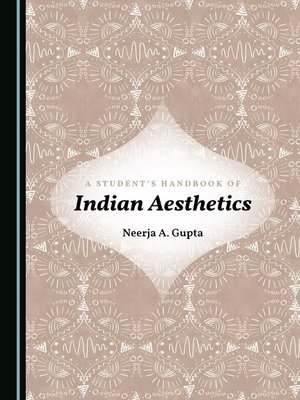 cover image of A Student's Handbook of Indian Aesthetics