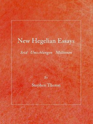 hegel essay