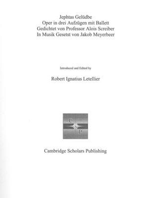 cover image of Jephtas Gelüdbe Oper in drei Aufzügen
