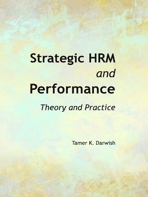 cover image of Strategic HRM and Performance