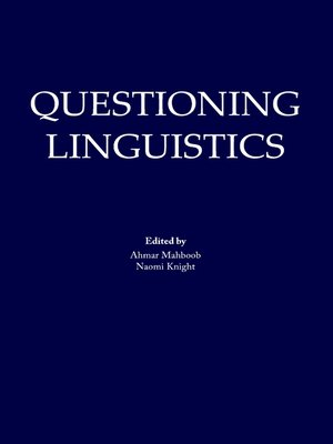 cover image of Questioning Linguistics