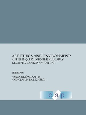 cover image of Art, Ethics and Environment