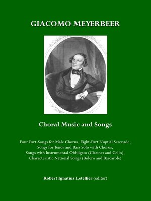cover image of Giacomo Meyerbeer Choral Music and Songs
