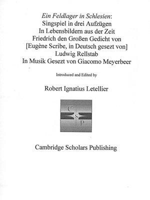 cover image of EIN FELDLAGER IN SCHLESIEN