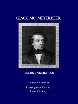 cover image of Giacomo Meyerbeer