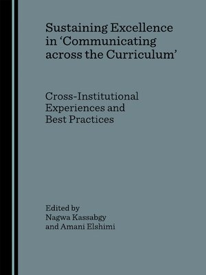cover image of Sustaining Excellence in 'Communicating across the Curriculum'