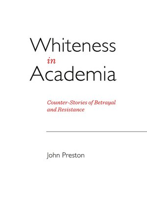 cover image of Whiteness in Academia