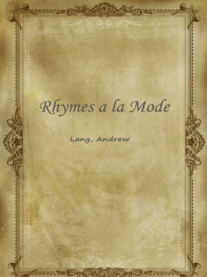 cover image of Rhymes A La Mode