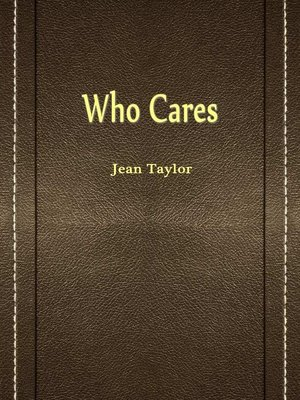 cover image of Who Cares