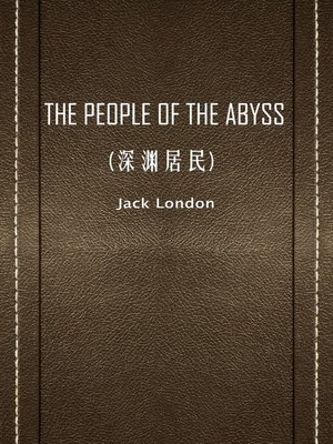 cover image of The People Of The Abyss(深渊居民)