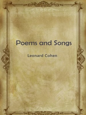 cover image of Poems And Songs