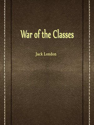 cover image of War Of The Classes