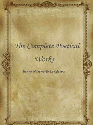 cover image of The Complete Poetical Works