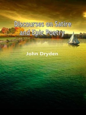 cover image of Discourses On Satire And Epic Poetry