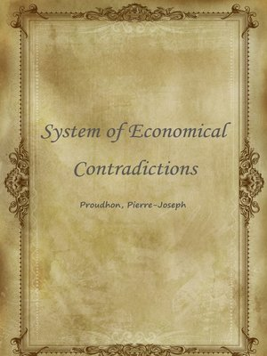 cover image of System Of Economical Contradictions