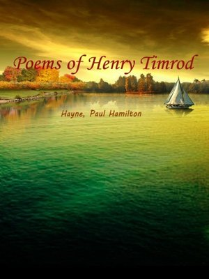 cover image of Poems Of Henry Timrod