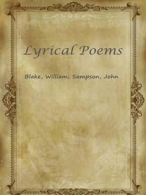 cover image of Lyrical Poems