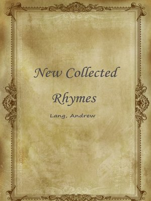 cover image of New Collected Rhymes