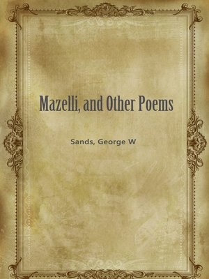 cover image of Mazelli, And Other Poems