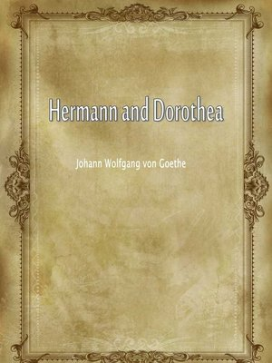 cover image of Hermann And Dorothea