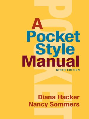 cover image of A Pocket Style Manual