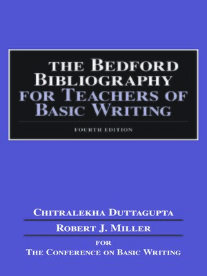 cover image of The Bedford Bibliography for Teachers of Basic Writing